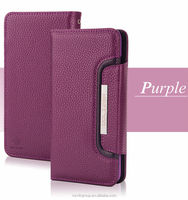2 in 1 Wallet style leather cellphone case For iPhone 6 plus with stand cover