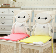 Plush backrest cushion soft cartoon chair seat cushion car seat cushions for short drivers
