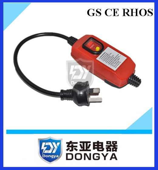 PRCD safety plug leakage protection inline plug