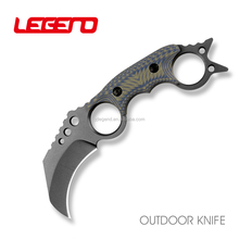 HL009 Premium OEM new design csgo fixed blade karambit claw knife outdoor rescue survival hunting knife with G10 handle
