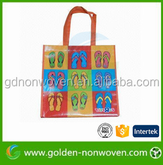 Laminated PP+PE film non woven shopping bags/polypropylene eco shopping bags/ Spunbond non woven fabric bag