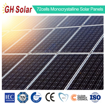 72cells monocrystalline solar panel 300w 310w 320w 330w 345w solar power panel tuv ce iec