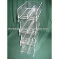 Acrylic Candy/chocolate/food display rack for bar