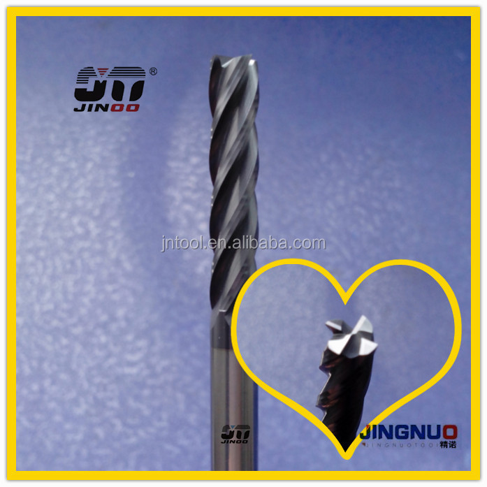 JINOO High Performance cnc quality end mills solid carbide scrap tungsten steel cutting tools