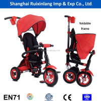 high quality foldable steel frame EN71 standard kids tricycle/pedal car