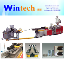 PP/PE/PVC double cavity single wall corrugate pipe/tube extrusion machine