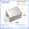 SZOMK custom cast extruded industrial electronic aluminum box 49*61*80mm