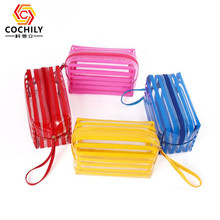 High quality custom clear pvc cosmetic pouch bag