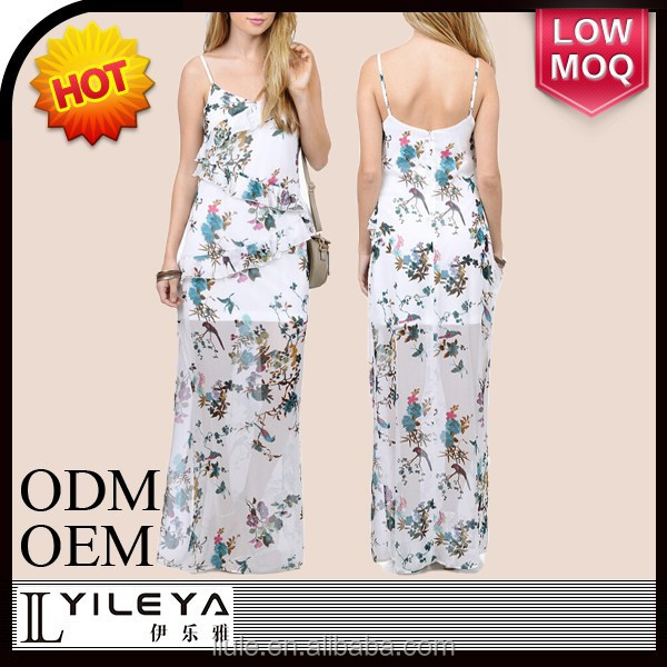 causal floral summer ladis maxi dresses factories in china
