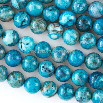 Genuine blue Crazy Mexican Lace Agate beads 10mm