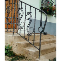 wrought iron stairs grill design
