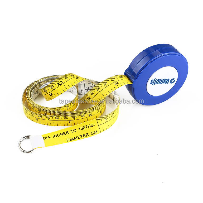 White And Yellow Round Retractable Diameter Engineer Multi Measure Tape