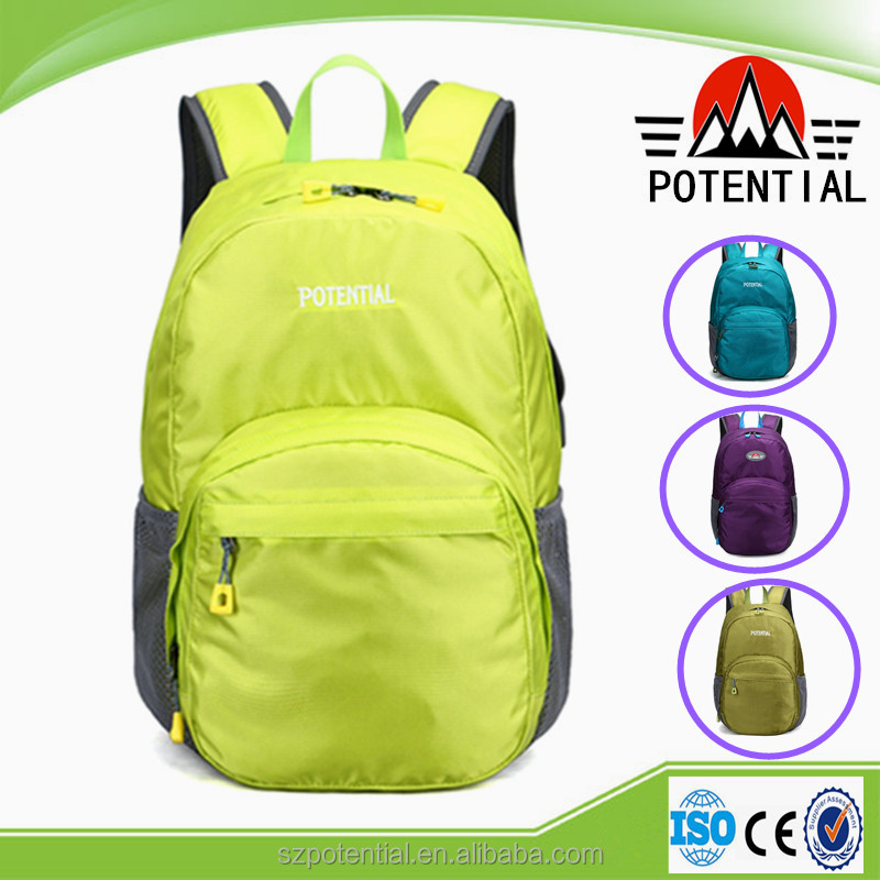 Guangzhou wholesale school backpacks average size bags child back pack