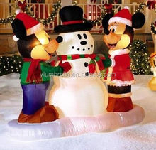Outdoor Inflatables Lighting Christmas Snow Man