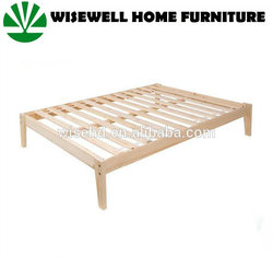 solid pine simple in king with slats bed frame wood