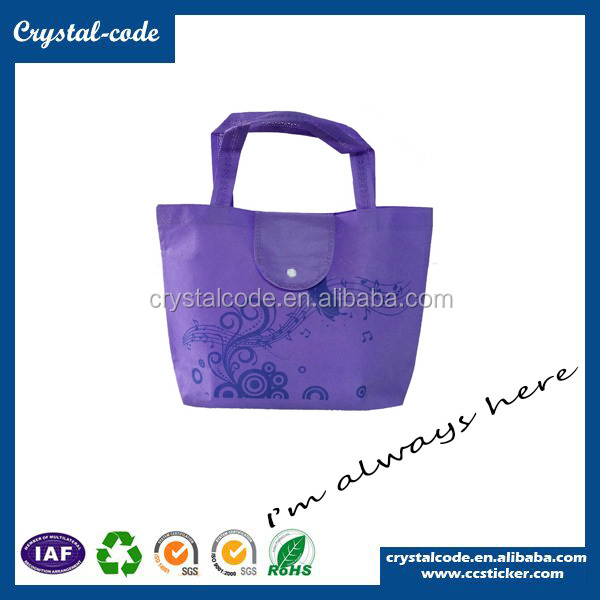 Colorful recyclable shopping cotton nonwoven foldable reusable shopping bag