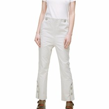 Concealed Zip Fly Double Face Bonded Trouser with Button Cuffs