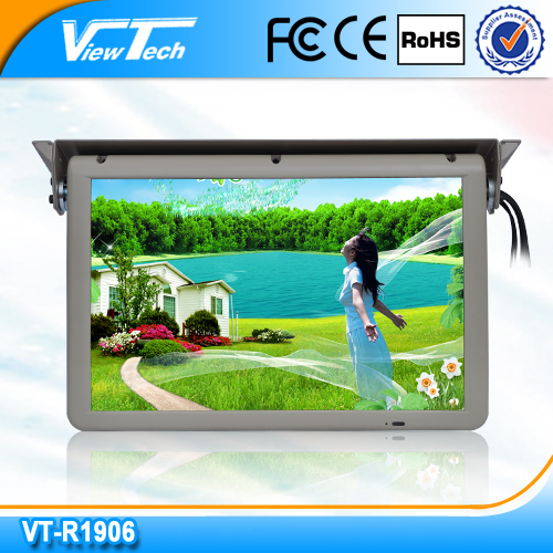 Energy saving 19 inch bus TV Ceiling monitor,flip down tv, fold monitor