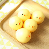 Hot Sale!!!Small Yellow Chicken Squeeze Toy Anti Stress Funny Toy