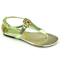 RMC stylish glittering pu top branded sandal woman
