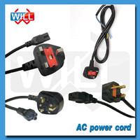 BS approval 3pin 2 pin 250V 13A British UK power cord