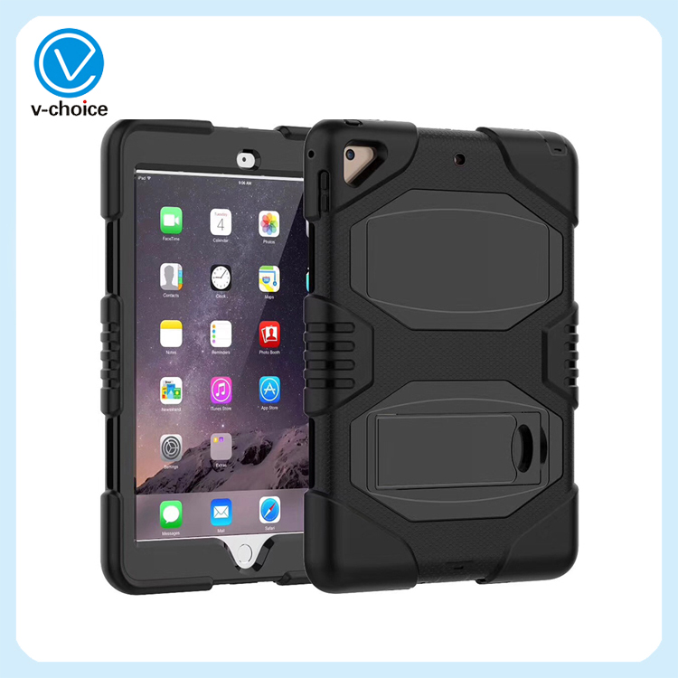 Silicone Case for iPad Mini 1/2/3 Luxury Shockproof 360 Full Body Protective Cover Armor Defender Hard Cases 08