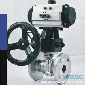 Single or Double Action Pneumatic Ball Valve Manufacture