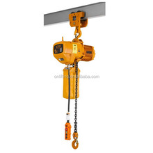 1 ton electric chain hoist with manual trolley