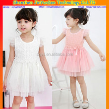 2014 summer A-Line cotton party dresses for girls 10 years