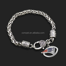 Wholesale New England Patriot NFL Ball Game Team Sports Chain Bracelets