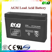 Rechargeable sealed lead acid 6v 7ah 20hr ups battery