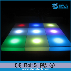 PE material battery rechargeable rgb color changing floor,light up portable dance floor