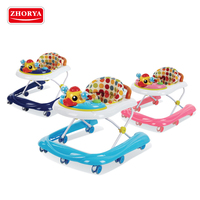 Zhorya New Style Hot Sell adjustable simple baby walker with music