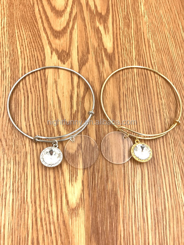 Monogram Disc Bangle,Alex Bangle,Custom Monogram Charm Bangle