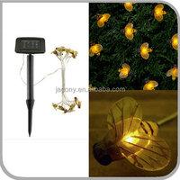 solar string light 20 Led Bumble Bee Shape for garden (JL-7547)