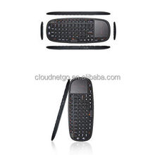 Factory Best price 2.4g mini fly air gyro mouse wireless keyboard with 70keys design 15M OD for android smart TV use