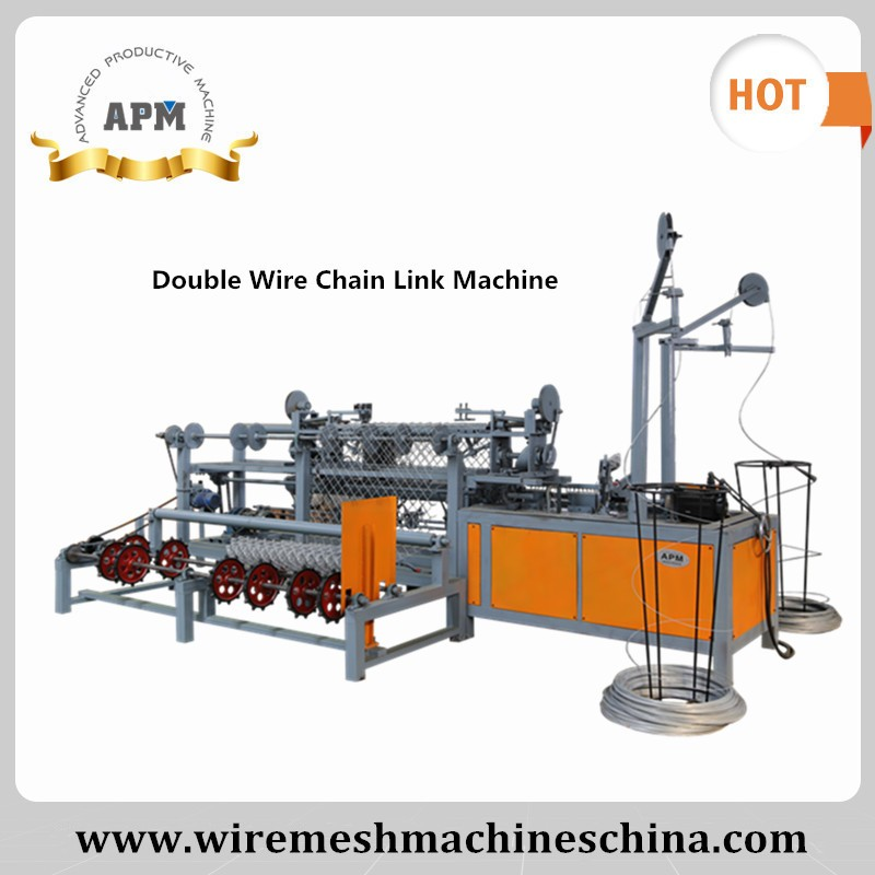 APM Double Wire Chain Link Fence Equipment/ Diamond Mesh Making Machine