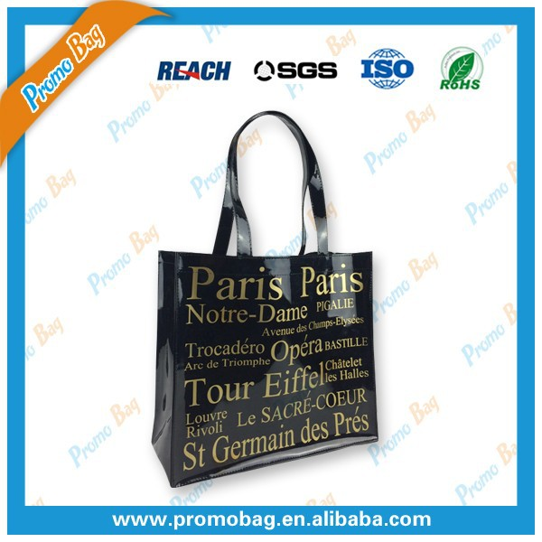 Gold Printing Mirror-surface Leather Shopping Bag