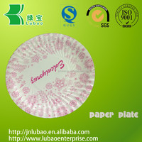 Embossing & disposable paper plate with customized design