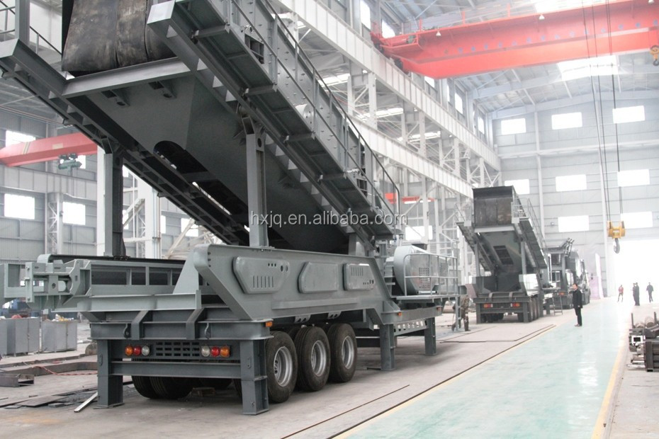 Hot sell Mobile crushing station Stone rushing station