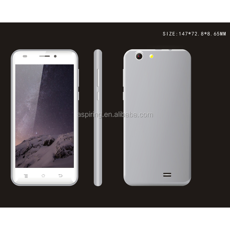 5 Inch MTK6580 Quad Core Android 5.1 cheap smartphone with sim card slot