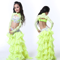Wuchieal High Grade Stage Performance Belly Dance Costumes for Children