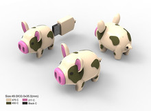 Cute trendy promotional 8GB special design USB flash drive gift set PIG SHAPE USB