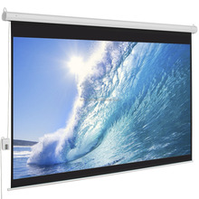 slap up Electric screen with remote control matte white fabric ceiling mount or wall mount motorized projector screen