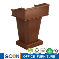 Modern church wooden rostrum