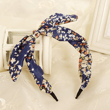 New Arrival Fashion Butterfly Bow Flower <strong>Hair</strong> Garland Lovely Rabbit Ear Headband for Headwear Women <strong>Hair</strong> <strong>Accessories</strong>