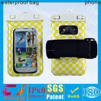 Good quality phone waterproof case for htc one m7 with armband