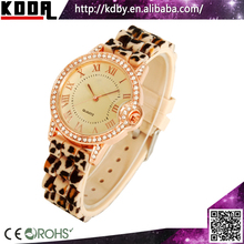 Silicone Crystal Leopard Watch Ladies SL68 Watch Movement Factory