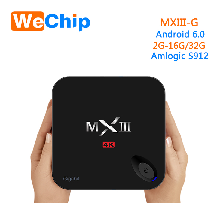 Black MXIII-G MX3 Kodi QUAD CORE 4K Android 6.0 TV BOX MXIII-G 2G 16G Android tv box