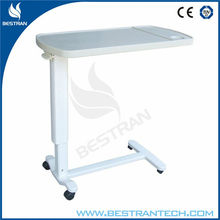 China BT-AT002 ABS movable bedside hospital dining tables over bed tables price